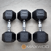 York Rubber Hex Dumbbell (Choose your own Sets KGS/LBS) - Dumbbells - MaxWOD Fitness - 3