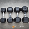 MaxWod 400 Member Set: York Rubber Coated Hex Dumbbells - Dumbbells - MaxWOD Fitness - 1
