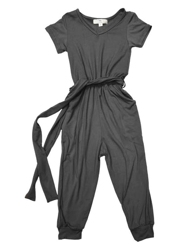 Short Sleeve Jumpsuit - Slate