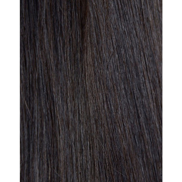"18"" Beauty Works Deluxe Remy Instant Clip-In Extensions Ebony Black 1B"