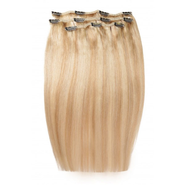 "18"" Beauty Works Deluxe Remy Instant Clip-In Extensions California Blonde 613/18"