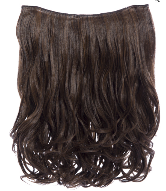 16 inch Curly Synthetic Clip In Hair Extension Piece