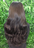 Expresso Brown Hannah 3/4 Synthetic Hair Piece