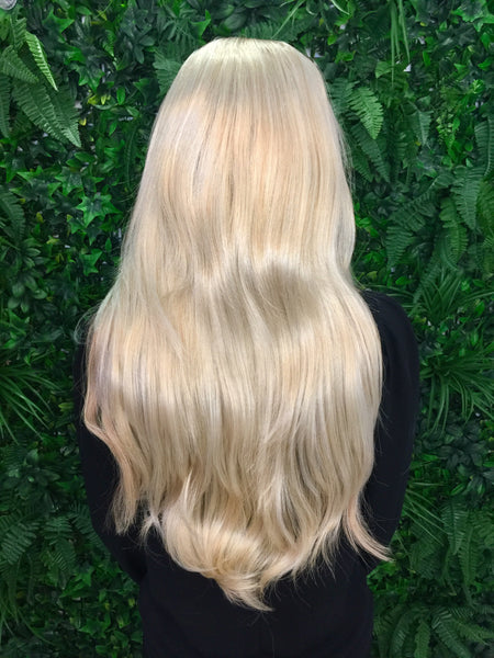Swedish Blonde Hannah 3/4 Synthetic Hair Piece