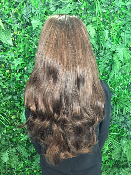 Caramel Brown Hannah 3/4 Synthetic Hair Piece