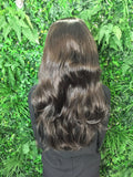 Midnight Brown Hannah 3/4 Synthetic Hair Piece