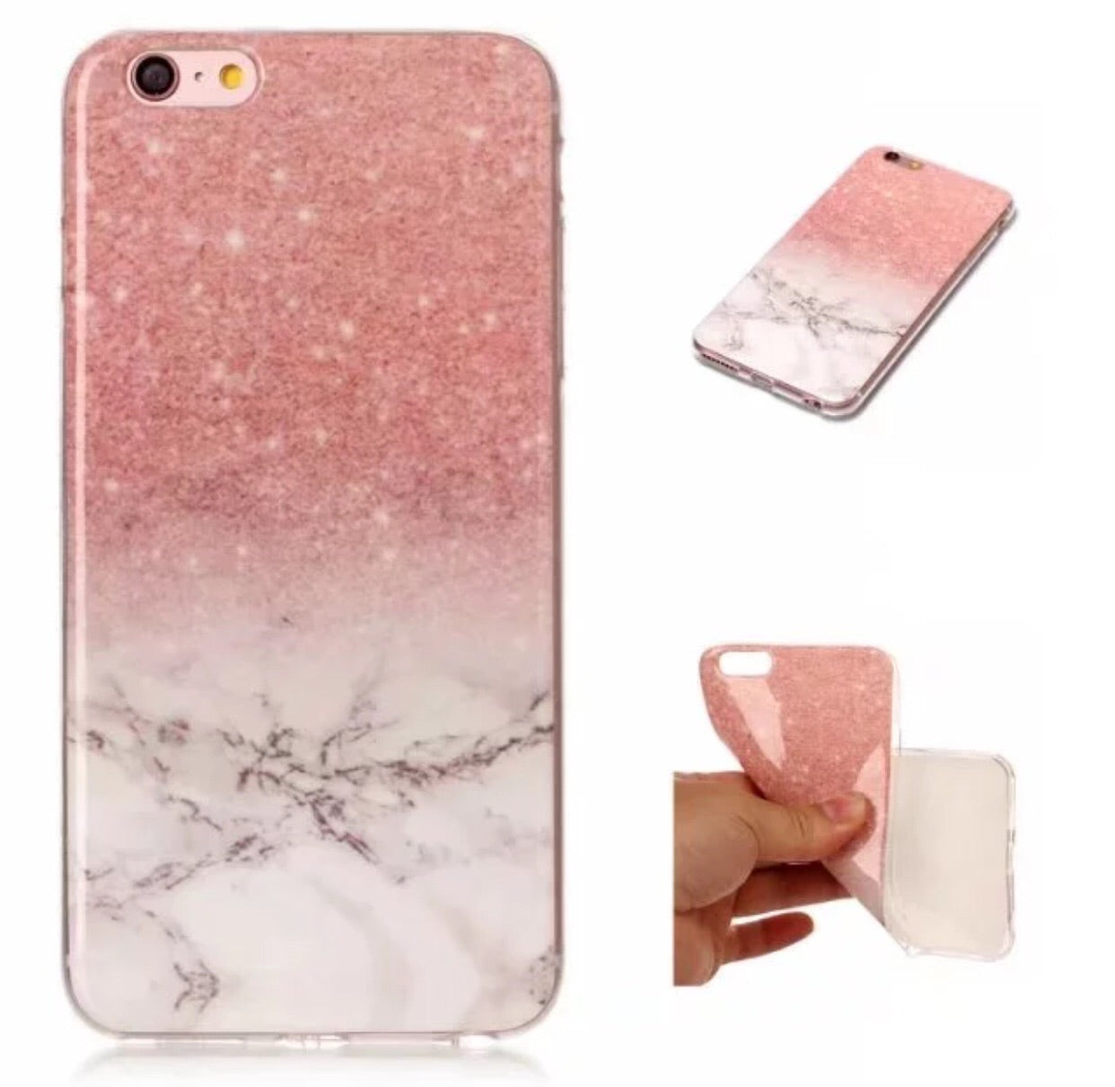 Pink Galaxy Marble Soft Silicone Phone Case iPhone 6/6s