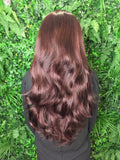 Royal Plum 3/4 Hannah Synthetic Hair Piece