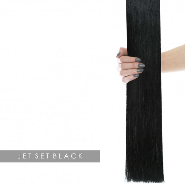"22"" Celebrity Choice - Weft Hair Extensions - Jet Set Black 1"