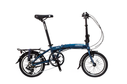 "Dash - SOLOROCK 16"" 8 Speed Aluminum Folding Bike - Disc Brakes"