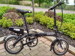 "Mini-Cruiser - SOLOROCK 14"" Mini Cruiser Aluminum Folding e-Bike"