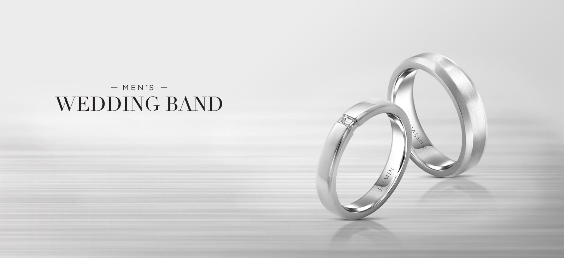 Men's wedding band banner