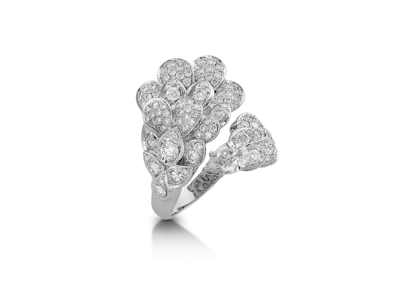 The Beginning White Gold Diamonds Ring TBG-R03
