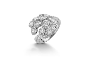 The Beginning White Gold Diamonds Ring TBG-R02