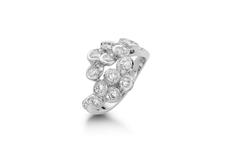 The Beginning White Gold Diamonds Ring TBG-R01