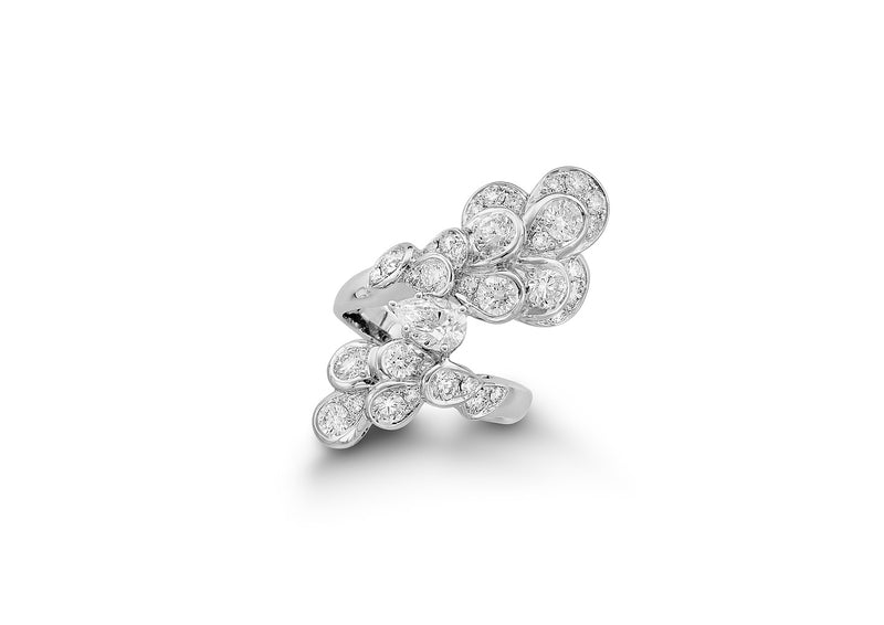 The Beginning White Gold Diamonds Ring TBG-R04