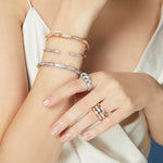 NEW! The Facet White Gold Bangle TF-B09