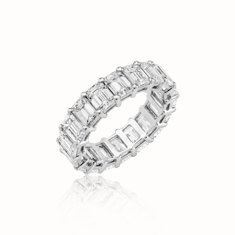 Emerald-Eternity Wedding Band