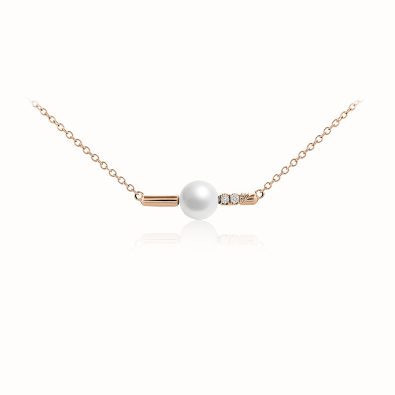 Kukicha Akoya Pearl Diamonds Necklace KKC-N02
