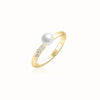 Kukicha Akoya Pearl Diamonds Ring KKC-R05