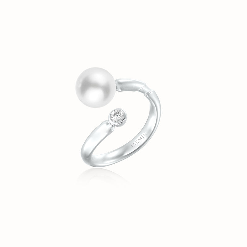 Kukicha Akoya Pearl Diamonds Ring KKC-R06