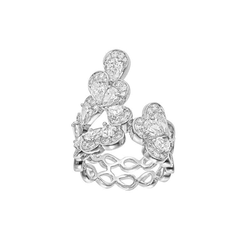 The Beginning White Gold Diamonds Ring TBG-R07