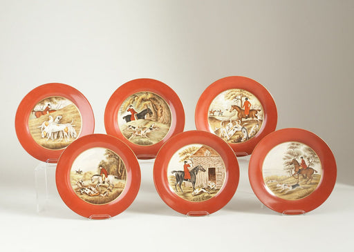 Hand-Painted Pimlico Platers (Set of Six)