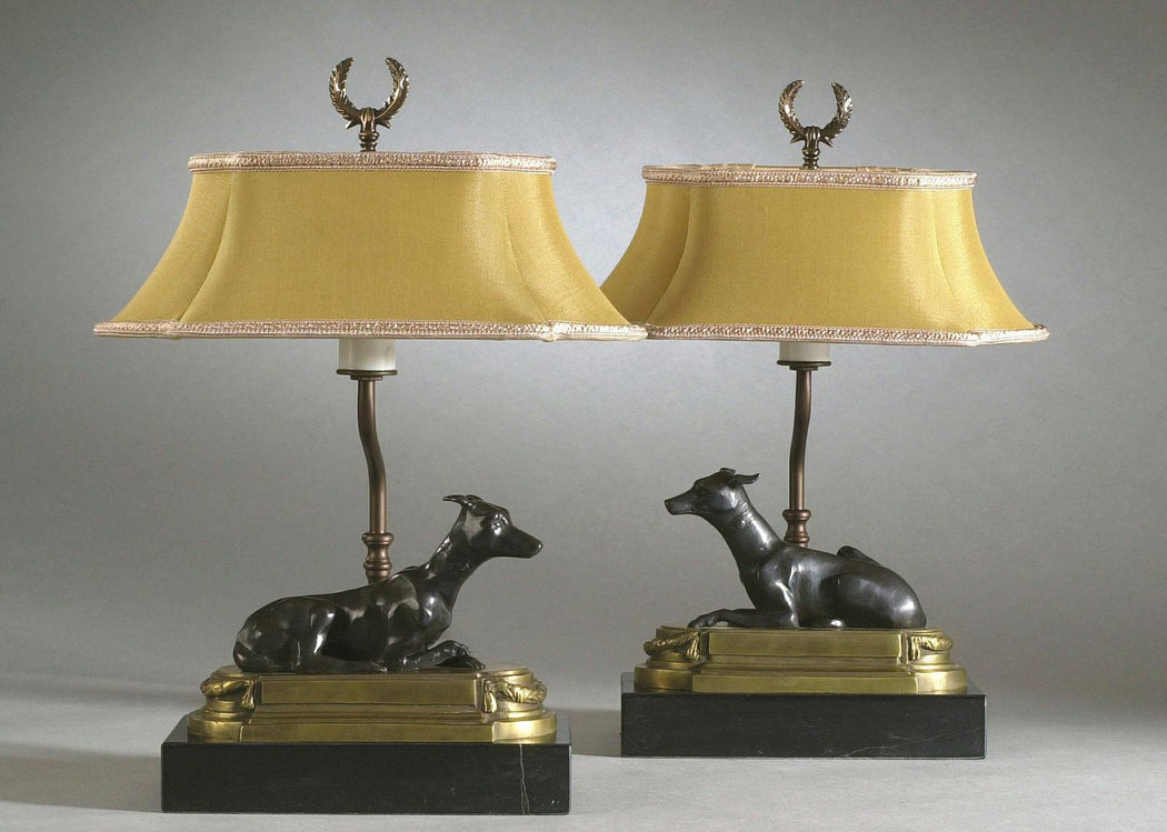 Greyhound Bookcase Lamp (Left) — Accents by Design