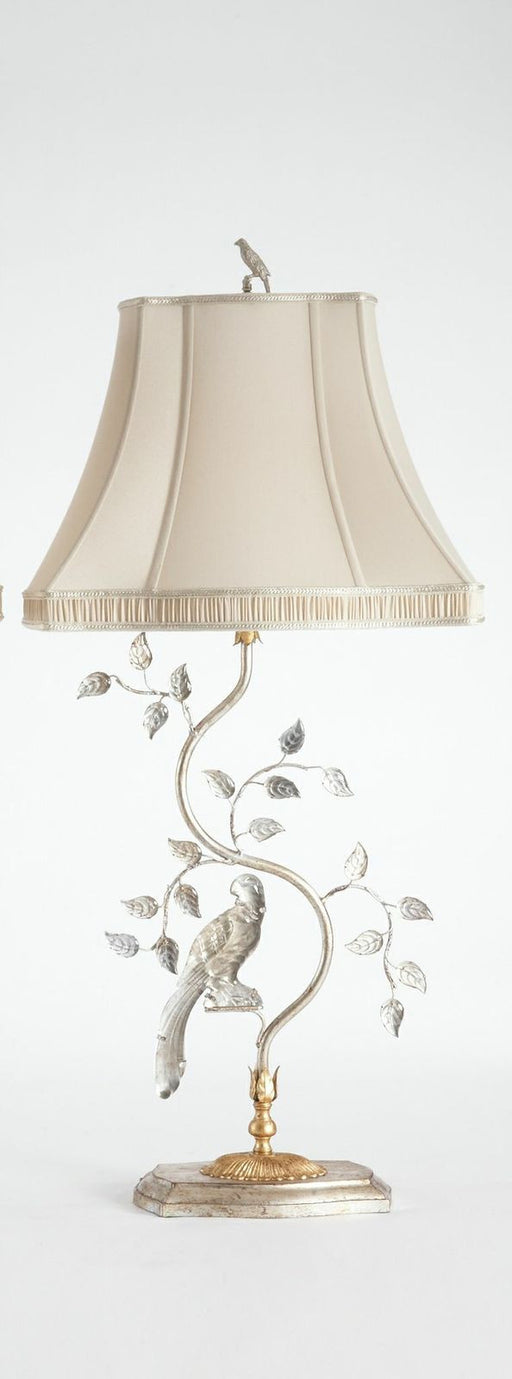 Italian Crystal Bird Lamp (Left)