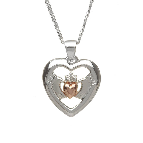 Rose Heart Claddagh