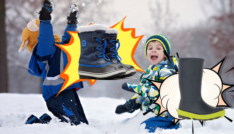 Snow Boots vs. Wellies… Fight!