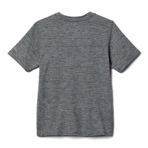 Columbia Boys Tech Trek T-Shirt (Grey Heather)-Little Adventure Shop