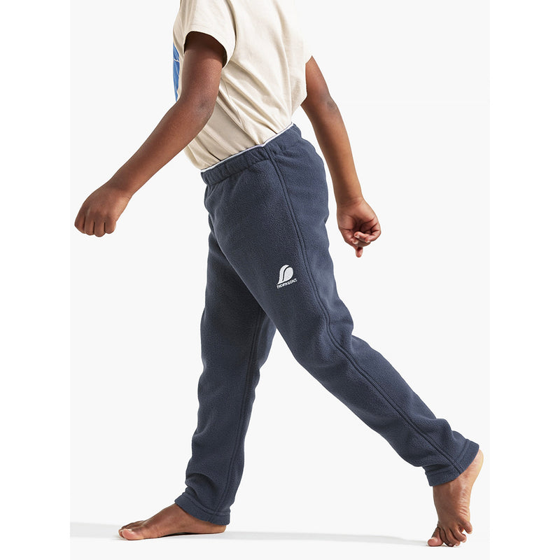 Didriksons Monte Kids Fleece Pants (Navy)-Little Adventure Shop