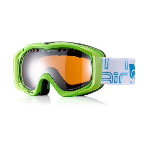 Cairn Booster Kids Ski Goggles 6 - 12 yrs (Green)-Little Adventure Shop