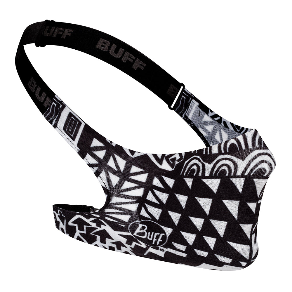 Buff Junior Face Mask (Black and White)-Little Adventure Shop