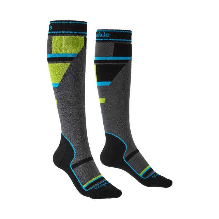 Bridgedale Junior Ski Mountain Socks (Grey)-Little Adventure Shop