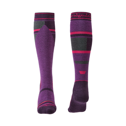 Bridgedale Junior Ski Mountain Socks (Berry)-Little Adventure Shop