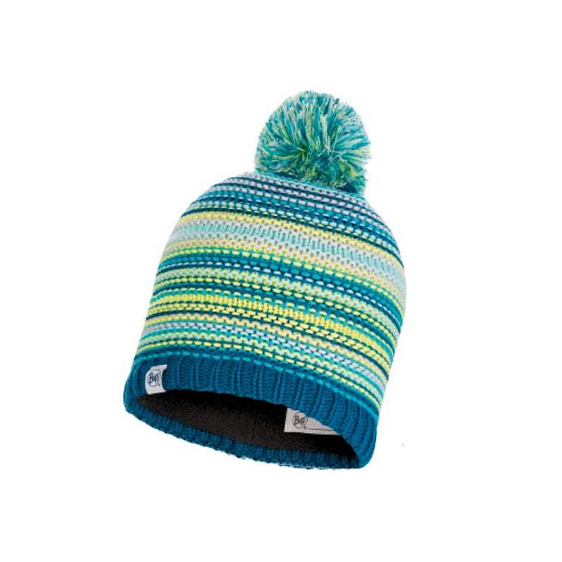Buff Junior Amity Bobble Hat (Turquoise)-Little Adventure Shop