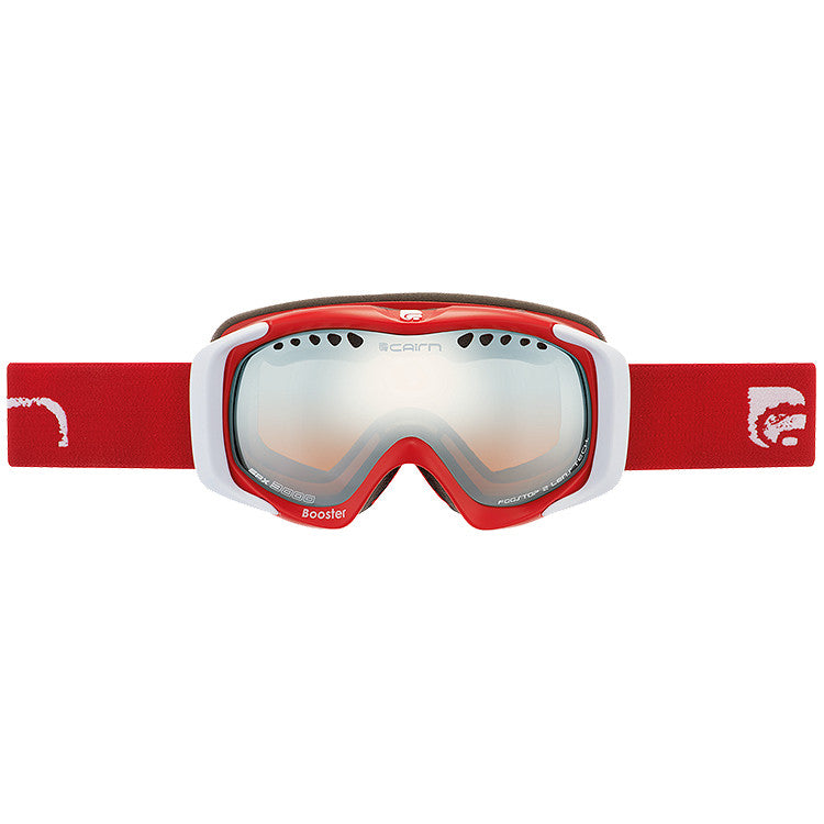 Cairn Booster Kids Ski Goggles 6 - 12 yrs (Red)-Little Adventure Shop