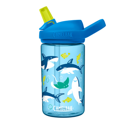 Camelbak Eddy Kids 0.4L Water Bottle (Sharks and Rays)-Little Adventure Shop