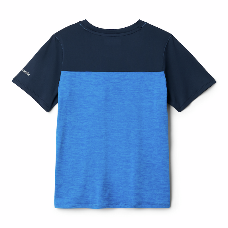 Columbia Boys Tech Trek T-Shirt (Azure Blue)-Little Adventure Shop