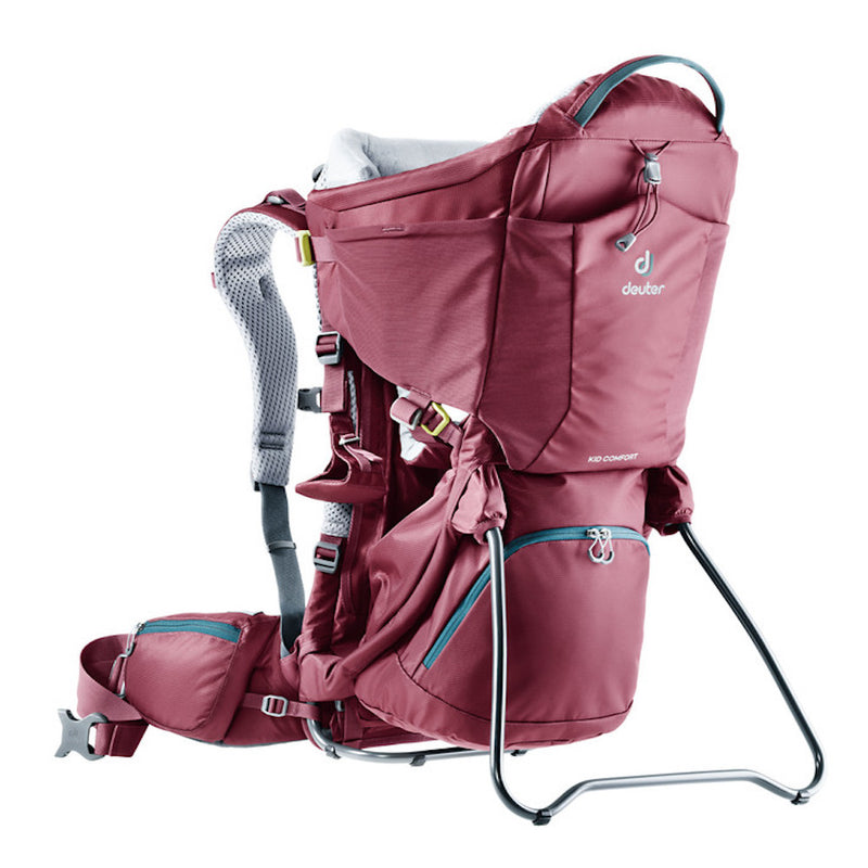 Deuter Kid Comfort Baby Carrier (Maroon)-Little Adventure Shop