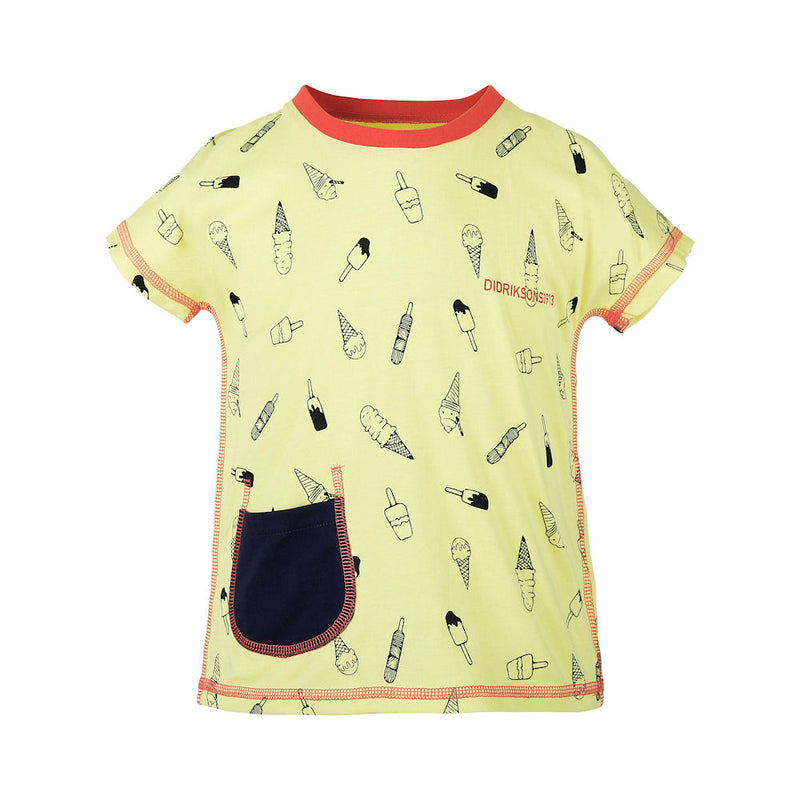 Didriksons Playa Kids T-Shirt (Citron)-Little Adventure Shop