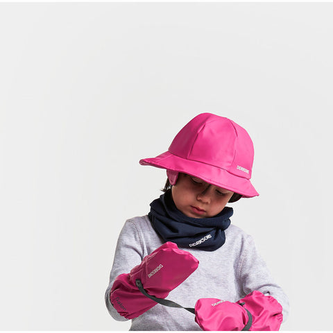 Didriksons Kids Southwest PU Rain Hat (Fushia)-Little Adventure Shop