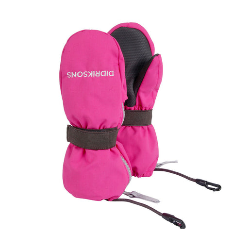 Didriksons Biggles Zip Mittens (Pink)-Little Adventure Shop