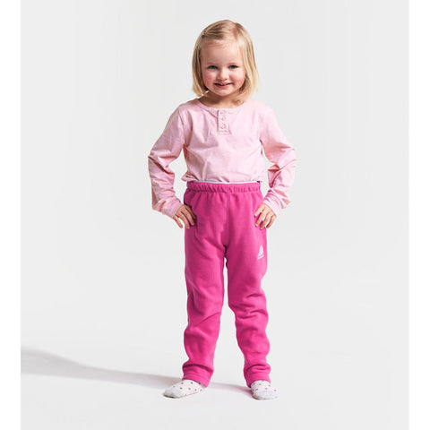 Didriksons Monte Kids Fleece Pants (Pink)-Little Adventure Shop