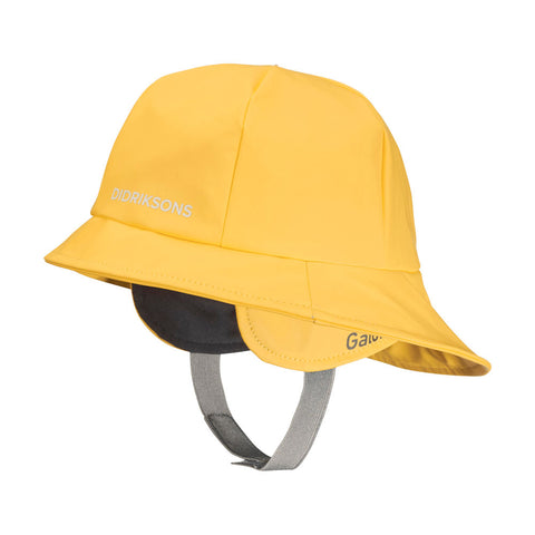 Didriksons Kids Southwest PU Rain Hat (Yellow)-Little Adventure Shop