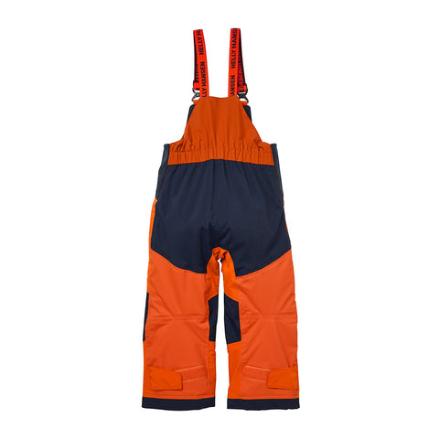 Helly Hansen Kids Rider 2 Insulated Bibs (Neon Orange)-Little Adventure Shop