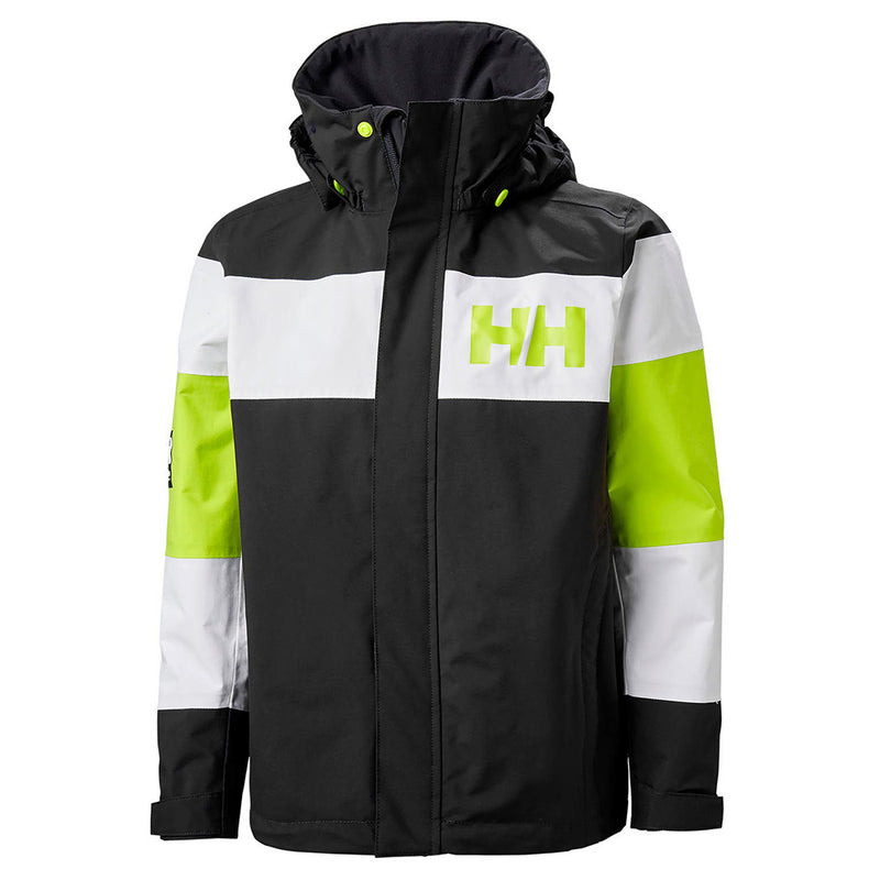 Helly Hansen Junior Salt Port Jacket (Ebony)-Little Adventure Shop