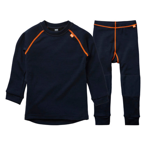 Helly Hansen Kids Lifa Merino Midweight Thermals (Navy)-Little Adventure Shop